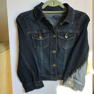 NWT One world crop Denim jacket size XS